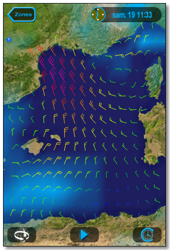 GRIB Weather File for Safe Sailing at Sea